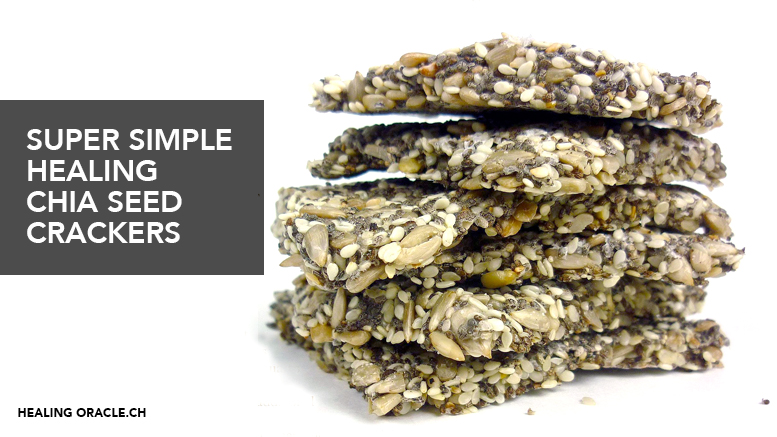 Vegan, gluten and sugar free quick & easy chia seed crackers recipe
