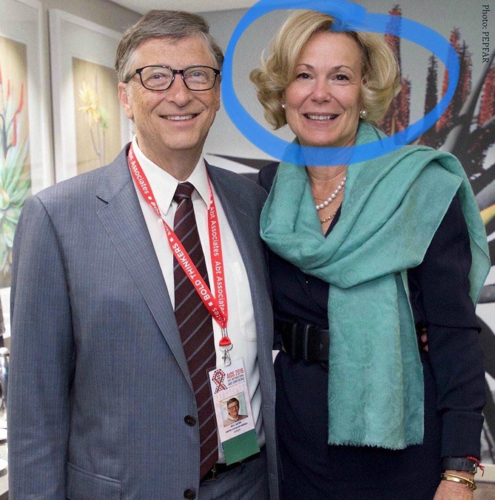 Bill Gates with Dr. Debra Birx