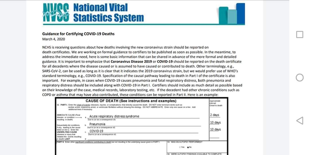 Coroners can record any death that may suspect as Covid