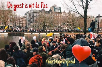Anti vaccine demonstrations in Holland