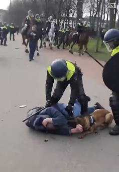 Police force in peaceful Amsterdam