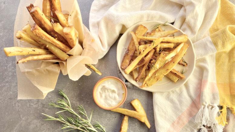 crispy & healthy recipe: rosemary-garlic parsnip fries